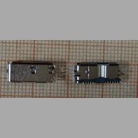 Разъём жесткого диска SMD MICRO USB 3.0 Тип B накладной