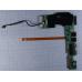 Дополнительная плата портов для ноутбука Asus Eee PC 1015B X1015B _IO LAN, USB, Audio