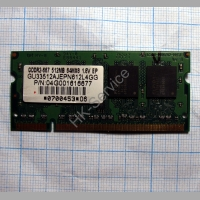 Оперативная память DDR2 GU33512AJEPN612L4GG 512Mb PC-5300-667